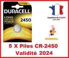 5 Piles CR-2450 DURACELL bouton Lithium 3V DLC 2026