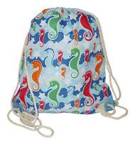 Toucan Womens Drawstring Backpack Gym Bag String Cinch Ladies Cloth Fabric Print