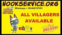Raymond Audie Judy Ahkna Animal Crossing New Horizons Any Villager Available