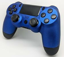Rare Vofking Custom Un-Modded Soft Touch Blue & Black Sony PS4 Controller
