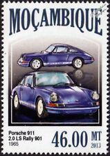 1965 PORSCHE 911 (901) 2.0 LS Rally Sports Car Stamp (2013 Mozambique)