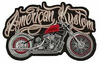 Patche dorsal grand écusson dos grande taille American Kustom patch brodé