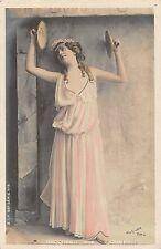 POSTCARD   GLAMOUR  FRENCH    Actresses....Bacchante  Aux  Cymbales
