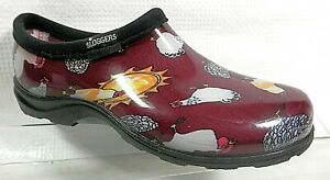 Sloggers 5116CBR08 Chicken Print Collection Women's Rain & Garden Shoe Size 7