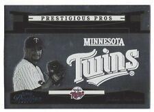 Johan Santana 2005 Playoff Prestige Prestigious Pros Silver 01/75 Card# PP-57