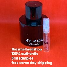 ^^5ML SAMPLE^^ Black By Kenneth Cole Men's Cologne Atomizer Decant