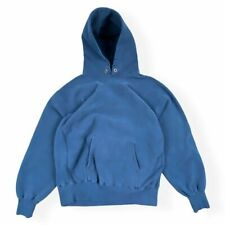 Vintage 80s Champion Lands End Reverse Weave Navy Blue Pullover Hoodie Mens XL