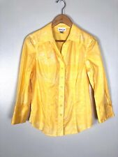 Coldwater Creek Yellow Floral Patterned Blouse, Size S
