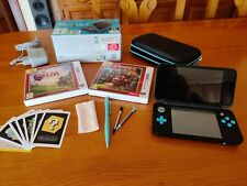 New 2ds xl azul/negro + 2 juegos + accesorios + sd 32gb + Homebrew Launcher