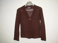 PATRICE BREAL Gilet Femme taille 3 (M) Marron