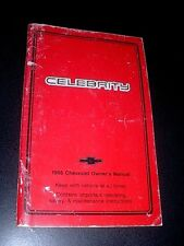 1986 CHEVROLET CELEBRITY OWNERS MANUAL