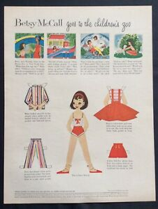 Betsy McCall Mag. Paper Doll, Betsy McCall Goes to the Children's Zoo, May 1958