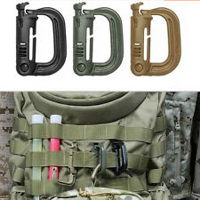 Tactical Grimloc Safety Safe Buckle MOLLE Locking D-ring Carabiner Climbing CA`