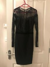 Lipsy Black Lace Dress Size 8
