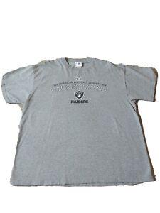 Vintage Oakland Raiders - 2002 AFC Champions - NFL - T-Shirt size XL Gray