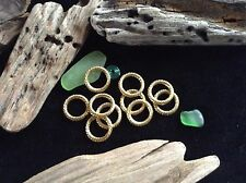 Tribal Hair Rings 10 x 8mm Hole Antique Brass Tone Ethnic Dreadlock Bead Dreads