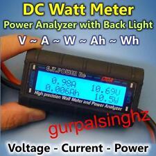 130A 60V New Digital DC Backlight LCD RC Solar Power Analyzer Watt Meter Voltage