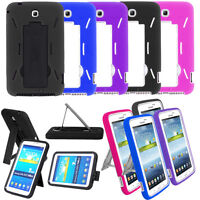 Rubber Armor Hybrid Case Cover For Samsung Galaxy Tab 3 7.0 P3200 P3210 T210/217