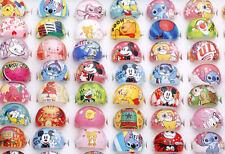 Wholesale lots bulk 20pcs Resin Lucite Mixed pattern Cartoon Ring Children Free