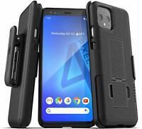 Google Pixel 4 Belt Clip Case w Kickstand Holster Cover