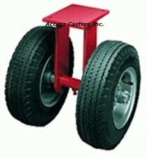 "R-72210-PR Hamilton 21"" Dual Wheel Pneumatic Rigid Plate Caster 5000 lb Capacity"