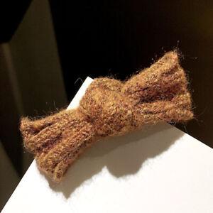 Cute Pure Colors Knitting Bowknot Hair Clip Hairpins Barrettes Hair Ornaments