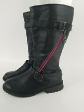 Really Cute! Cherokee Youth Tall Fashion Boots Side Zip Size 4