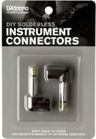 "D'Addario - Planet Waves Cable Station Solderless Plug 1/4"" angled Twin Pack"