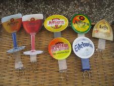 7 cavaliers de pompe à bière en plastique Affligem Leffe Desperado