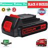 LBXR20 20V MAX Matrix Lithium Ion Battery For Black & Decker LCS1620 LDX220 2.5A