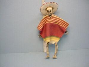 Miniature Skeleton&Sombrero & Poncho Teri's Mini Workshop Handcrafted  1/12th