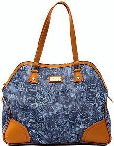 Borsa Spalla Donna Denim Cuoio Alv By Alviero Martini Bag Woman Blue Leather