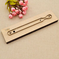 DIY Key Ring Template Knife Punch Tool Leather Craft Key Chain Cutter Hand Tool