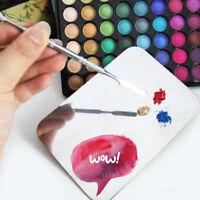 Acrylic Makeup Kit Nail Eye Shadow Mixing Palette + Stainless Spatula Tool Set