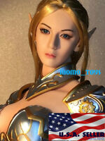 "1/6 Fairy Elf Female Head Sculpt PALE For 12"" PHICEN VERYCOOL KUMIK Figure ❶USA❶"