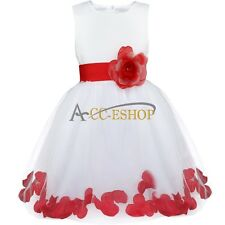 Petals Lace Tulle Princess Bridesmaid Flower Girls Wedding Formal Party Dresses