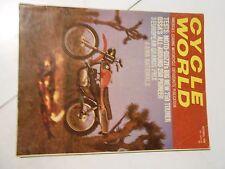 OCTOBER 1969 CYCLE WORLD MAGAZINE,OSSA 250 PIONEER,MOTO GUZZI 750,4 AMA NATIONAL