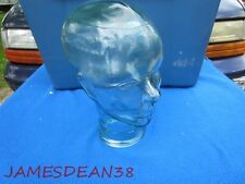 Retro Funky Life Size Display Glass Head Hat Mannequin Green Tinge