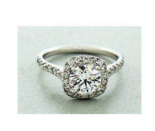 """Diamond Engagement Ring 1.70 Carats Set in Platinum """"G"""" Color GIA EX EX EX"""