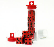 10 Bunco Dice Game - Red w/ Black (Family Night Party Set)