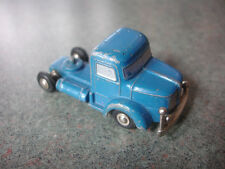 Old Vtg Antique Collectible Diecast Blue Tractor Trailer Cab