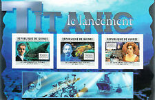 Guinea Guinee 2011 MNH Titanic Cent Launch II 3v M/S Ships DiCaprio Kate Winslet