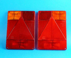 LH & RH Radex 6800 Replacement LENS for Rear Trailer Lamp Lights - Indespension