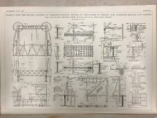 Walney Channel Viaduct: Barrow In Furness: 1908 Engineering Magazine Print