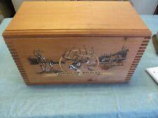 AMERICAN WILDLIFE WOOD AMMO BOX