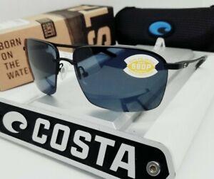 """COSTA DEL MAR matte black/gray """"SKIMMER"""" 580P POLARIZED sunglasses! NEW IN BOX!"""