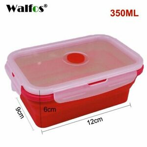 Silicone Lunch Box Container Collapsible Storage Leakproof Foldable Microwavable
