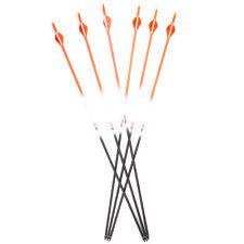 """6pcs Archery Carbon Spine 400 Shaft Arrows 30"""" Length for Compound&Recurve Bows"""