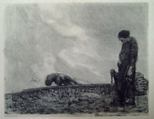 Käthe Kollwitz - Pflügender mit Frau