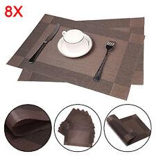 8x Tischset Platzdeckchen Platzset Platzmatte Tischmatte Decke abwaschbar